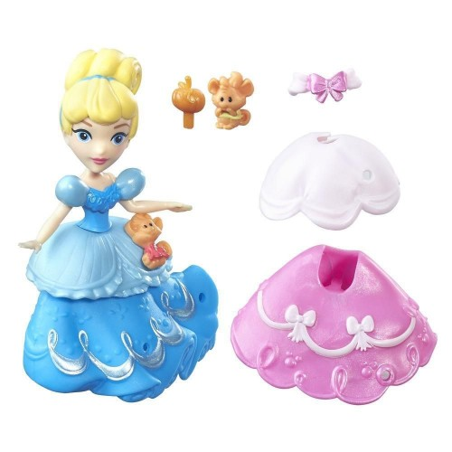 Disney Princess Маленькая кукла Золушка и модные аксессуары B7158
