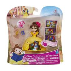Disney Princess Маленькая кукла Принцесса Белль в платье с волшебной юбкой B8962/B8964