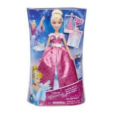 Disney Princess Модная кукла Золушка в роскошном платье-трансформере C0544