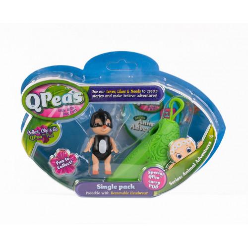 """Фигурки в стручке Qpeas """"Приключения животных"""" QP002 Пингвин Перри (1 фигурка и 1 подвеска)"""