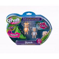 """Фигурки в стручке Qpeas """"Приключения животных"""" QP004 Жирафчик Гиги - выдра (3 фигурки и 1 подвеска)"""