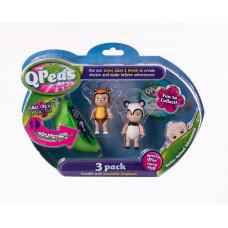 """Фигурки в стручке Qpeas """"Приключения животных"""" QP004 Тигр Тилли - Панда (3 фигурки и 1 подвеска)"""