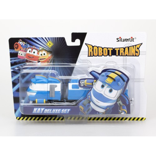 Robot Trains Паровозик с двумя вагонами Кей  80176