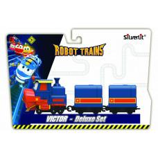 Robot Trains Паровозик с двумя вагонами Виктор  80179