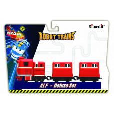 Robot Trains Паровозик с двумя вагонами Альф  80180