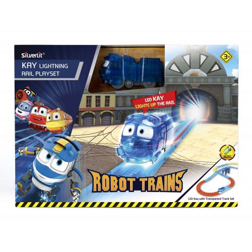 Игровой набор с подсветкой Robot Trains  80187