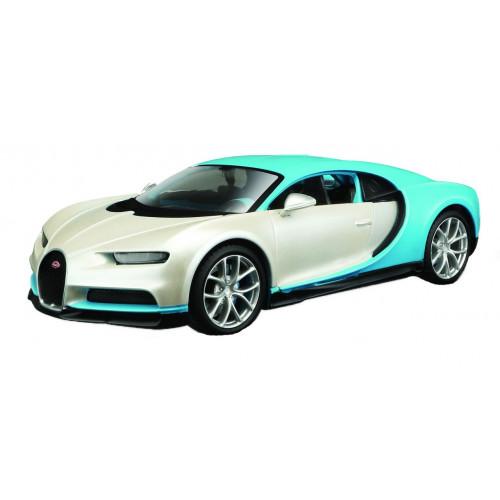 Автомодель Maisto (1:24) Bugatti Chiron бело-голубой - тюнинг 32509 white / blue