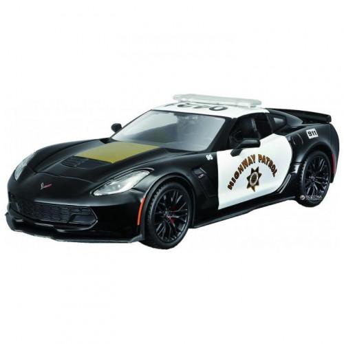 Автомодель Maisto (1:24) 2015 Chevrolet Corvette Z06 Полиция черный - тюнинг 32516 black