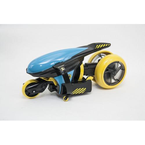 """Мотоцикл Maisto на р/у Cyklone 360 чёрно-голубой (функция """"полицейский разворот"""", светодиоды) 82066 blue/black"""