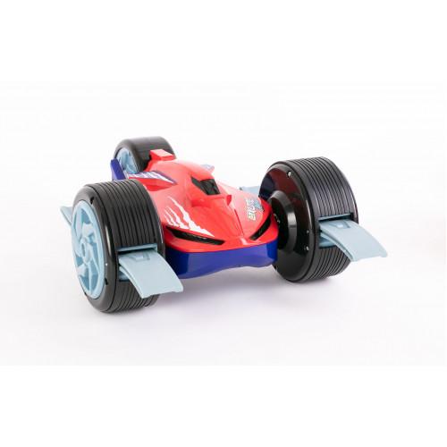 Автомодель на р/у Cyklone Amphibian чёрно-зелёный 82093 red/blue