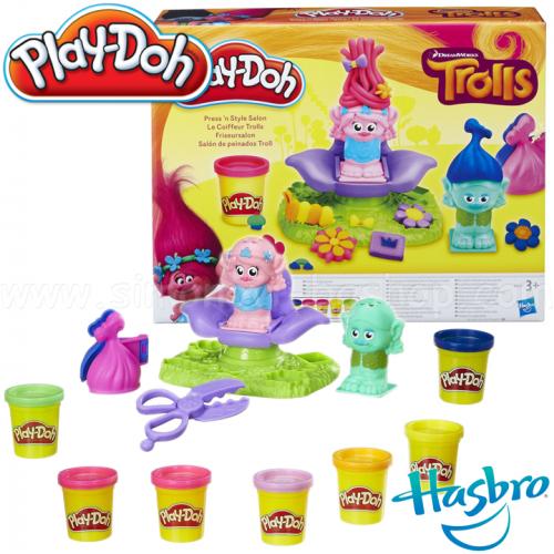 "Hasbro Play-Doh Плей-До Игровой набор ""Салон Троллей"" Play-Doh B9027"