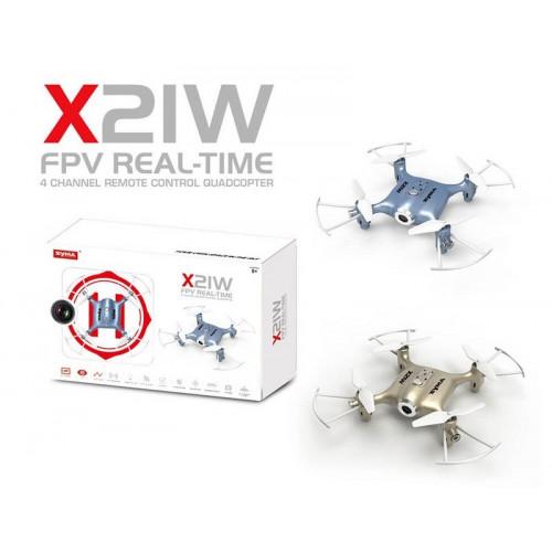 Квадрокоптер SYMA с 2,4 Ггц управлением и FPV-камерой  ( 13,5 cм)  X21W