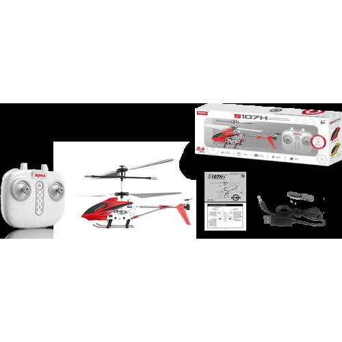 Вертолёт SYMA с 2,4 Ггц управлением, светом, барометром и гироскопом (22 см), S107H