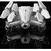 Квадрокоптер SYMA с 2,4 Ггц управлением, складной конструкцией и FPV-камерой  (32 cм)  Z3